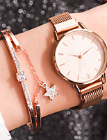 cheap -Women's Quartz Watches Fashion Rose Gold Alloy Chinese Quartz Rose Gold White Black Adorable 1 pc Analog One Year Battery Life
