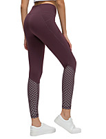 cheap -Women's High Waist Yoga Pants Fashion Black Purple Green Gray Elastane Running Fitness Gym Workout Tights Leggings Sport Activewear Tummy Control Butt Lift Moisture Wicking Power Flex High Elasticity