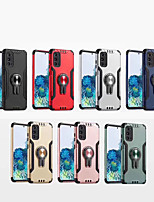 cheap -Case For Samsung Galaxy Galaxy S10 / Galaxy S10 Plus / Galaxy S10 Lite Shockproof / Ring Holder Back Cover Solid Colored TPU