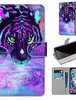 cheap -Case For LG Q70 / LG K50S / LG K40S Wallet / Card Holder / with Stand Full Body Cases Tiger Drinking Water PU Leather / TPU for LG K30 2019 / LG K20 2019