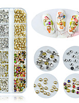 cheap -1 Box Multi Size Glass Nail Rhinestones Mixed Colors Crystal Strass 3D Charm Gems DIY Manicure Nail Art Decorations