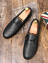 cheap -Men's Summer / Fall Classic / British Daily Office & Career Loafers & Slip-Ons Walking Shoes Nappa Leather White / Black
