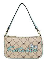 cheap -Women's Zipper PU Clutch / Evening Bag / Crossbody Bag Leather Bags Letter Camel / Fall & Winter
