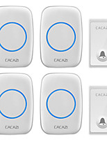 cheap -CACAZI FA60 Wireless Doorbell Self-powered Waterproof Intelligent Home Door Ring Bell 4Pcs Receivers Transmitter