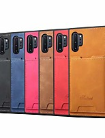 cheap -Case For Samsung Galaxy S10/S10E/S10Plus/S10 5G/Note 10/ N0TE 10 Plus Card Holder / Shockproof Back Cover Solid Colored PU Leather / TPU