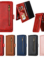 cheap -Case For Samsung Galaxy A10/A10S/A20/A20S/A20E/A30/A30S/A40/A50/A51/A71/A70/A70S/A81/A91  Card Holder / Shockproof / Flip Full Body Cases Solid Colored PU Leather / TPU