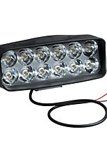 cheap -12V LED Headlights Modified External Spotlight 12 Lamp Beads ABS Shell For Electric Vehicle Motorcycle