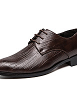cheap -Men's Spring & Summer / Fall & Winter Classic / British Daily Outdoor Oxfords Walking Shoes Leather / Nappa Leather Breathable Wear Proof Black / Brown