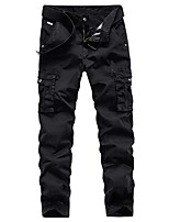 cheap -Men's Hiking Pants Hiking Cargo Pants Summer Outdoor Standard Fit Breathable Quick Dry Soft Sweat-wicking Cotton Pants / Trousers Bottoms Running Camping / Hiking Hunting Black Khaki Dark Green 29 30
