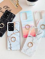Недорогие -чехол для samsung s20 s20plus note10 note10pro мрамор imd процесс тпу материал глянцевый кольцо кронштейн красивый чехол для мобильного телефона