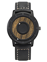 cheap -Men's Sport Watch Quartz Genuine Leather Day Date Analog Fashion Cool - Black Brown One Year Battery Life