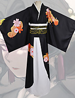 cheap -Inspired by Demon Slayer: Kimetsu no Yaiba Anime Cosplay Costumes Japanese Cosplay Suits Kimono Coat Headwear Waist Belt For Women's