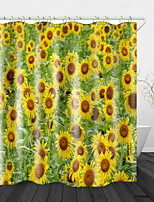cheap -Beautiful Sunflower Bathroom Shower Curtains & Hooks Rainbow Neoclassical Polyester Waterproof
