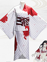 cheap -Inspired by Demon Slayer: Kimetsu no Yaiba Kamado Nezuko Anime Cosplay Costumes Japanese Cosplay Suits Top Skirt Sash / Ribbon For Women's