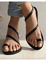 cheap -Women's Sandals Flat Sandals Summer Flat Heel Open Toe Daily PU White / Black / Gold / Bunion Sandals