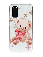 cheap -Case For Samsung Galaxy S10 5G/ Galaxy S20 Ultra / Galaxy S10E Transparent / Pattern Back Cover Animal TPU For Galaxy A51/A71/A20/A20E/A30/A50/A70/Note 10 Plus