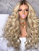 Недорогие -Парики из искусственных волос Кудрявый Средняя часть Парик Очень длинный Блондинка Искусственные волосы 26 дюймовый Жен. Волосы с окрашиванием омбре вьющийся пушистый Блондинка