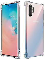 cheap -Case For Samsung Galaxy Note 9 / Samsung Note 10 / Note10 Pro / Note8 / Transparent Back Cover Solid Colored TPU