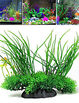 cheap -Fish Tank Arquatic Plant Fish Bowl Ornament Waterplant Artificial Plants Green Non-toxic & Tasteless Decoration Plastic One-piece Suit 20*8*16 cm
