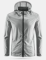 cheap -Men's Hiking Skin Jacket Hiking Jacket Summer Outdoor Windproof Sunscreen Breathable Quick Dry Jacket Top Elastane Single Slider Running Hunting Fishing White / Grey / Blue / Light Blue