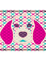 cheap -Abstract dog Rectangle 2/5 (1 cm) Doormats Machine Made Bonded Non Skid Classic