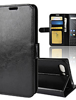 cheap -Case For BlackBerry Blackberry Key 2 / BlackBerry Keyone Wallet / Card Holder / Shockproof Full Body Cases Solid Colored PU Leather
