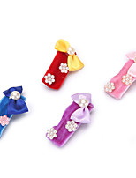 cheap -Dog Cat Pets Ornaments Cute and Cuddly For Dog / Cat Bowknot Cartoon Casual Cute Casual / Daily Color Block Animal Cartoon Fabric Rainbow 8pcs