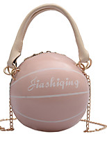 cheap -Women's Chain PU Leather / Polyester Top Handle Bag Leather Bags Solid Color White / Black / Blushing Pink / Fall & Winter