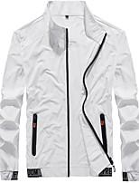 cheap -Men's Hiking Skin Jacket Hiking Jacket Summer Outdoor Windproof Sunscreen Breathable Quick Dry Jacket Top Elastane Single Slider Running Hunting Fishing White / Black / Grey / Ultraviolet Resistant