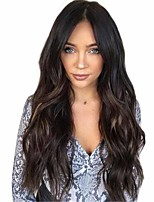 cheap -Synthetic Wig Matte Body Wave Middle Part Wig Very Long Natural Black Synthetic Hair 26 inch Women's Highlighted / Balayage Hair Middle Part curling Black