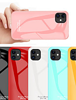 cheap -Case For Apple iPhone 11 / iPhone 11 Pro / iPhone 11 Pro Max Shockproof Back Cover Solid Colored Tempered Glass