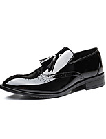 cheap -Men's Summer / Fall Classic / Casual Daily Office & Career Oxfords Faux Leather Non-slipping Wear Proof Black / Tassel