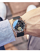 cheap -Men's Mechanical Watch Automatic self-winding Fashion Water Resistant / Waterproof Stainless Steel Analog - Black+Gloden Black Gold / Calendar / date / day