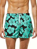 cheap -SEOBEAN® Men's Swim Shorts Swim Trunks Bottoms Quick Dry Drawstring - Swimming Surfing Painting Spring Summer / Micro-elastic