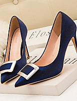 cheap -Women's Heels Summer Stiletto Heel Pointed Toe Daily Suede Black / Gold / Blue