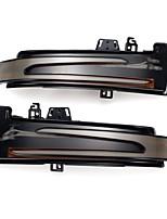 cheap -LED Side Mirror Sequential Dynamic Turn Signal Lights For Mercedes A B C E S CLS CLA GLA GLK Class - Black