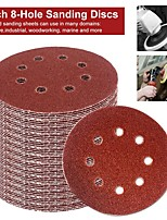 cheap -5 Inch 8-Hole Sanding Discs 100PCS  60 80 100 180 240 Grit Sandpaper Assorted Pack Random Orbital Sander Hook