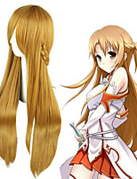 cheap -Cosplay Wig Asuna Yuuki SAO Swords Art Online Straight Cosplay Asymmetrical With Bangs Wig Very Long Brown Synthetic Hair 36 inch Women's Anime Cosplay Classic Brown