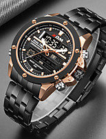 cheap -KADEMAN Men's Sport Watch Quartz Modern Style Stylish Stainless Steel Water Resistant / Waterproof Calendar / date / day Noctilucent Analog Casual Big Face - White+Blue Black+Gloden Black