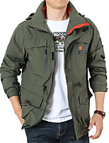 cheap -Men's Hiking Jacket Winter Outdoor Thermal / Warm Waterproof Breathable Multi-Pocket Jacket Top Camping / Hiking Hunting Fishing Army Green / Khaki / Dark Blue