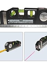 cheap -LV-03 Laser Level Horizon Vertical Measure 8FT Aligner Standard and Metric Ruler Multipurpose Measure Level Laser