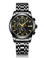 cheap -WEISIKAI Men's Mechanical Watch Automatic self-winding Modern Style Stainless Steel Water Resistant / Waterproof Calendar / date / day Noctilucent Analog Fashion Big Face - Black / Silver