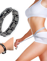 cheap -1 Piece Round Black Stone Magnetic Therapy Bracelet Health Care Hematite Stretch Bracelets