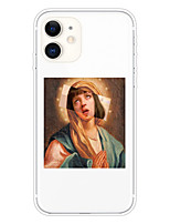 cheap -Case For Apple iPhone 11 11 Pro 11 Pro Max XS XR XS Max 8 Plus 7 Plus 6S Plus 8 7 6 6s SE 5 5S Transparent Pattern Back Cover Funny Oil Painting Soft TPU