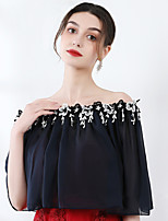 cheap -Half Sleeve Shrugs Chiffon Wedding / Party / Evening Shawl & Wrap With Floral