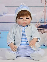 cheap -Reborn Baby Dolls Clothes Reborn Doll Accesories Cotton Fabric for 22-24 Inch Reborn Doll Not Include Reborn Doll Family Soft Pure Handmade Boys' 5 pcs