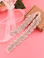 cheap -Satin / Tulle Wedding / Party / Evening Sash With Imitation Pearl / Belt / Appliques Women's Sashes