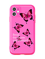 cheap -Case For Apple iPhone 11 / iPhone 11 Pro / iPhone 11 Pro Max Shockproof Back Cover Butterfly TPU