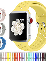 cheap -New Fashion Silicone Strap for Apple Watch Band 38/40mm 42/44mm Series 5 4 Sport Breathable Bracelet for iWatch Band 3 2 1