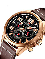 cheap -Men's Sport Watch Quartz Modern Style Stylish Genuine Leather Calendar / date / day Noctilucent Analog Casual Big Face - Black Gold Brown